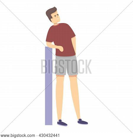 Resting Sportsmen Icon Cartoon Vector. Room Guy. Workout Gym