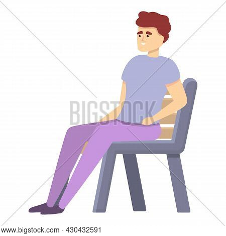 Resting Chair Icon Cartoon Vector. Home Relax. Rest Armchair