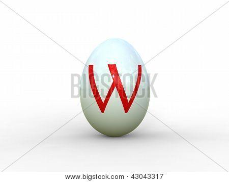 Egg Letter W