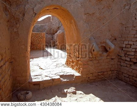 One Of Passages Inside Protective Wall Of Zuggurat Chogha Zanbil, Shush, Iran. Complex Built In 1250