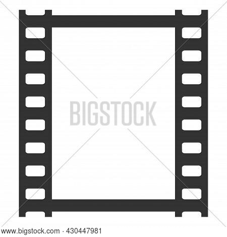 Film Strip Isolated Vector Icon. Image With Film Strip Icon. Photo, Retro Films Symbol. Photo Film F