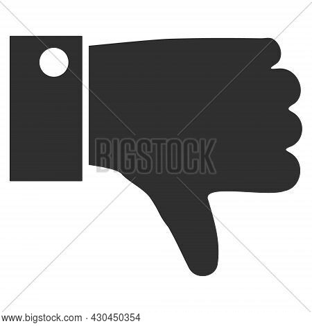 Thumb Down Icon With Flat Style. Isolated Vector Thumb Down Icon Image On A White Background.