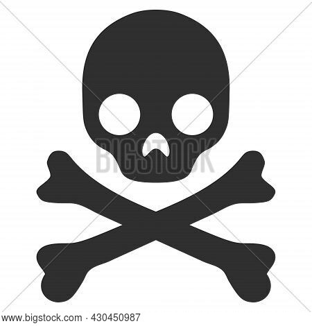 Death Skull Icon With Flat Style. Isolated Vector Death Skull Icon Image On A White Background.