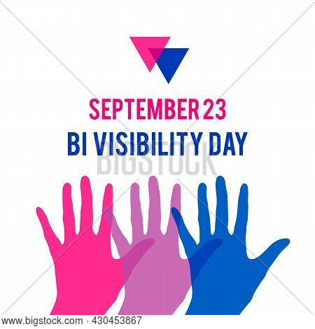 Bisexuality Day Or Bi Visibility Day Typography Poster. Lgbt Community Event Celebrate On September