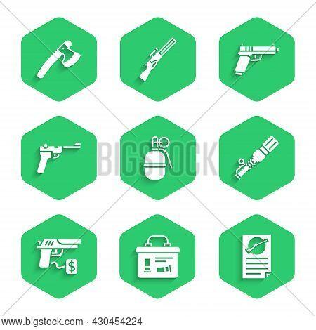Set Hand Grenade, Military Ammunition Box, Firearms License Certificate, Anti-tank Hand, Buying Gun