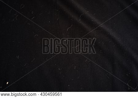Messy And Dirty Black Cloth Texture. Soft Cloth For Writing Background, Design Material Or Decoratio