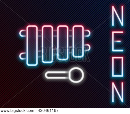 Glowing Neon Line Xylophone - Musical Instrument With Thirteen Wooden Bars And Two Percussion Mallet
