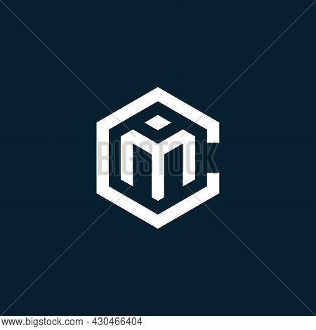 Initial Letter Cm Logo Design, Vector Illustration