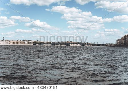 View Of St. Petersburg From The Neva River. Tourism Concept