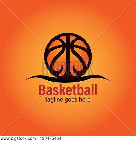 Basket Ball Design Logo Sport Competition Vector