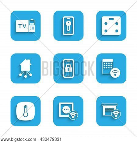 Set Digital Door Lock, Smart Electrical Outlet, Garage, Air Humidifier, Thermostat, Home, Bathroom S