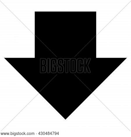 Download Arrow Icon With Flat Style. Isolated Vector Download Arrow Icon Image On A White Background