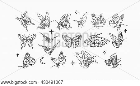 Hand Drawn Vector Abstract Stock Flat Graphic Illustrations Collection Set Bundle With Logo Elements
