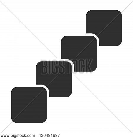 Blockchain Icon With Flat Style. Isolated Vector Blockchain Icon Image On A White Background.