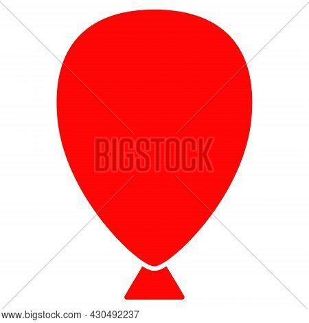 Celebration Balloon Icon With Flat Style. Isolated Vector Celebration Balloon Icon Image On A White