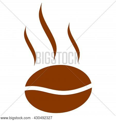 Coffee Aroma Icon With Flat Style. Isolated Vector Coffee Aroma Icon Image On A White Background.