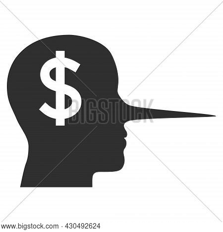 Financial Liar Icon With Flat Style. Isolated Vector Financial Liar Icon Image On A White Background