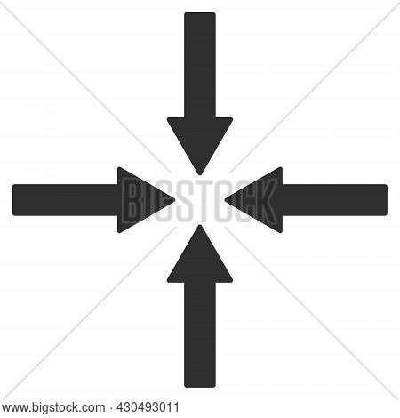 Shrink Arrows Icon With Flat Style. Isolated Vector Shrink Arrows Icon Image On A White Background.