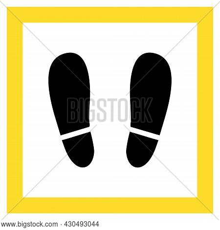 Stay Here Icon With Flat Style. Isolated Vector Stay Here Icon Image On A White Background.