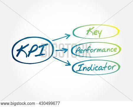 Kpi - Key Performance Indicator Acronym, Business Concept Background