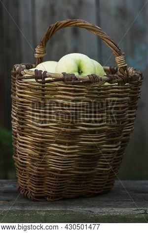 Rural; Farm; Apple Harvest; Apple Day; Fresh Harvest; Wooden; Wild; Summer; Organic; Nutrition; Pile