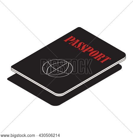 Election Isometric Composition With Isolated Image Of Citizen Passport Required For Voting Vector Il