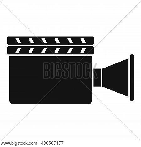 Film Clapper Icon Simple Vector. Movie Board. Clapperboard Cinema