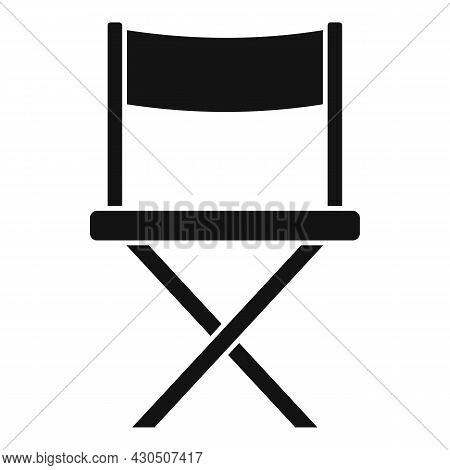 Film Director Chair Icon Simple Vector. Cinema Movie. Hollywood Seat