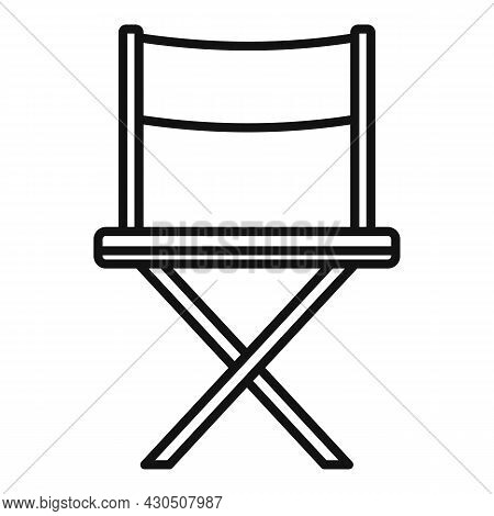 Film Director Chair Icon Outline Vector. Cinema Movie. Hollywood Seat