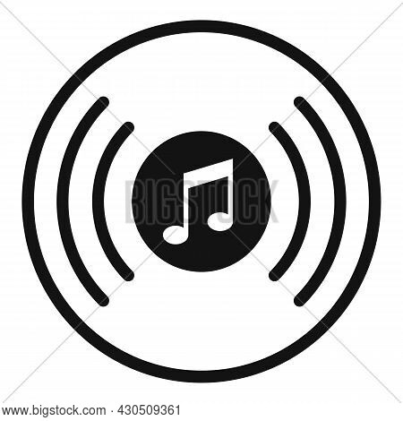 Vinyl Disk Playlist Icon Simple Vector. Music Song. Mobile App
