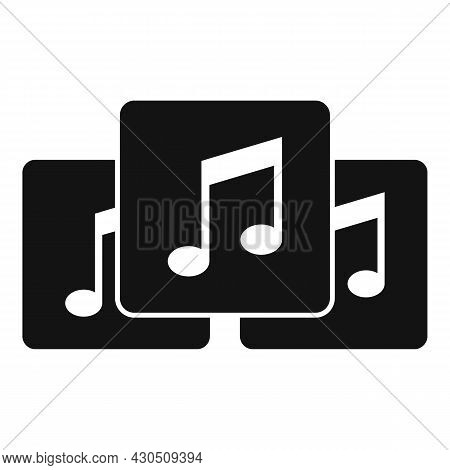 Playlist Interface Icon Simple Vector. Music Song List. Mobile Phone
