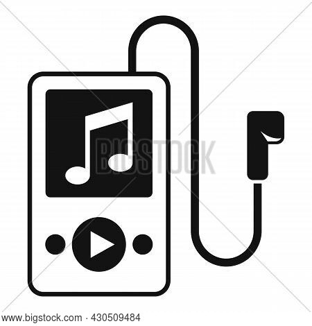 Music Player Icon Simple Vector. Playlist Song. Phone App