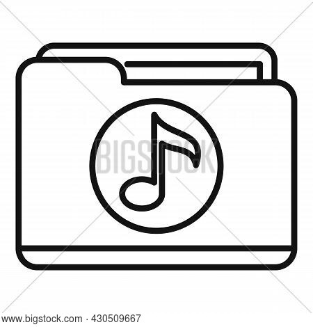Listening Playlist Icon Outline Vector. Music Song. Listen Audio