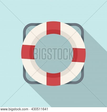 Lifebouy Icon Flat Vector. Saver Life Ring. Emergency Survival