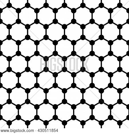 Bold Graphene Structure, Seamless Tile, Schematic Molecular Structure Of Graphene, Allotrope Of Carb