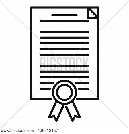 Reliability Certificate Icon Outline Vector. Phishing Compliance. Iso Audit