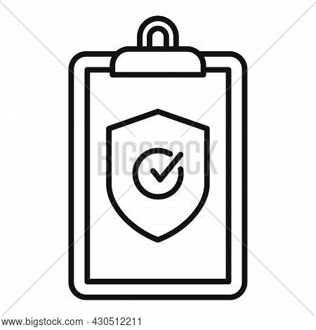 Reliability Clipboard Icon Outline Vector. Iso Assistant. Audit Checklist