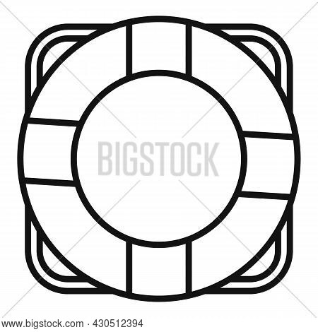 Lifebouy Icon Outline Vector. Saver Life Ring. Emergency Survival