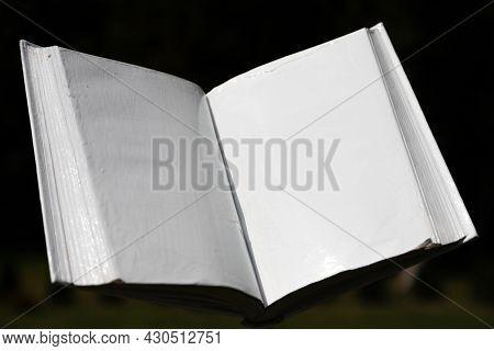 Blank White Open Book On A Uniform Backgroundblank White Open Book On A Uniform Background