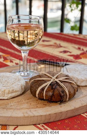 Tastes Of Provence, Ancient Small Goat Cheese Banon A La Feuille Wrapped In Chestnut Leaves And Tied