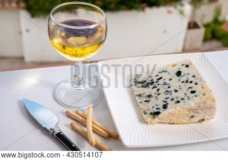 Cheese Collection, Semi-hard French Blue Cheese Roquefort From Roquefort-sur-soulzon, France Served