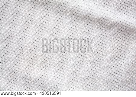 White Sports Clothing Fabric Jersey Texture Background