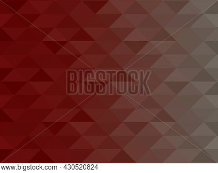 Abstract Burgundy Low-polygons Generative Background, Illustration. Triangular Pixelation.