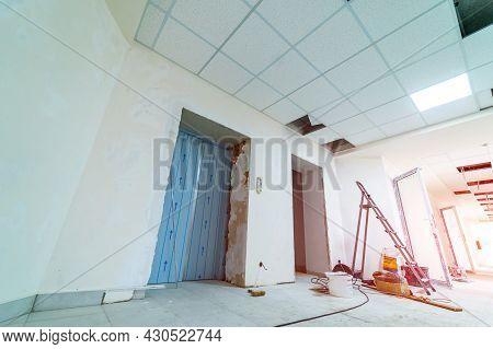 Renovation New Modern Apartment. Reconstruction Office Interior.