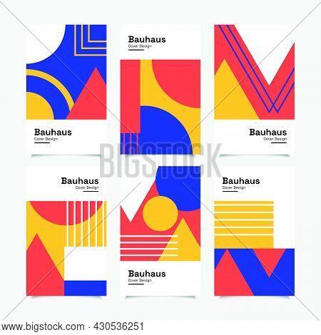 Set Of Abstract Geometric Bauhaus Cover Design
