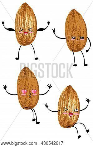Cartoon Almond Character