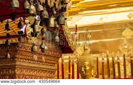 Mini Bells Around Wat Phra That Doi Suthep, Chiangmai Thailand.