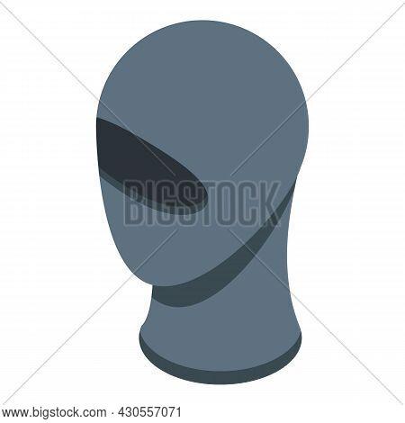 Balaclava Icon Isometric Vector. Ski Mask. Thief Robber