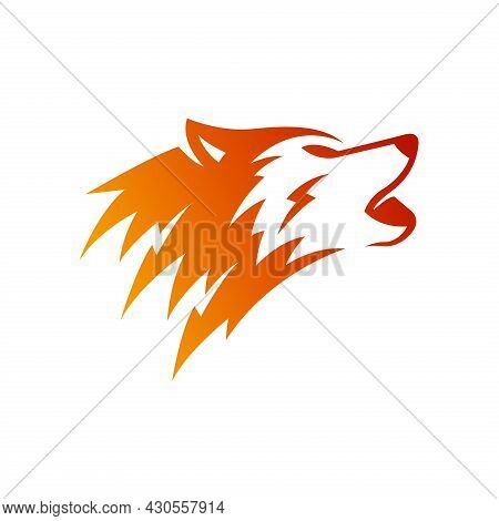 Fox Head Icon. Fox Head Logo Isolated On White Background. Fox Head Vector Simple Sign. Dog Head Ill