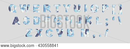 Word- Design Letters. Alphabet- Isolated Typographic. Creative Typeset- Stylish Classic Font. 3d Ill